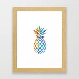 Watercolor and Splatter Pineapple I Framed Art Print