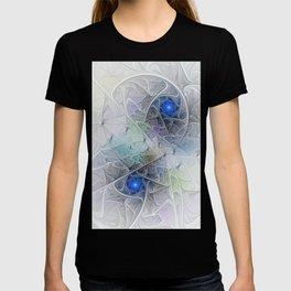 Little Blue Spirals Fractal T-shirt
