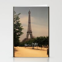 1984 Stationery Cards featuring Paris 1984 by Rolfsson