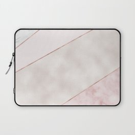 Spliced mixed pink marble and rose gold Laptop Sleeve
