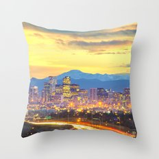 The Mile High City Throw Pillow