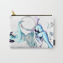 Pin Up Girl Cartoon Elvgren blue Carry-All Pouch