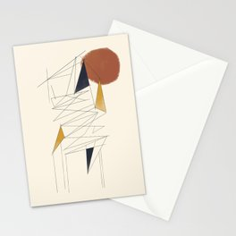 shapes and lines Stationery Cards