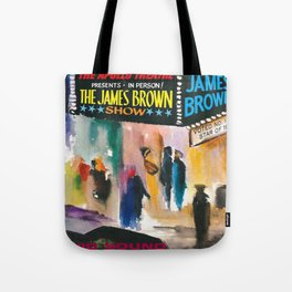 The Apollo Theater of Harlem Present James Brown Live Portrait Tote Bag