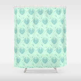 Baby feet background  3 Shower Curtain