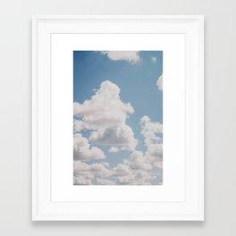 summer clouds iv Framed Art Print