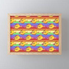 rainbow fish make up Framed Mini Art Print