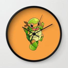 TMNT_POKET_MONSTER_orange Wall Clock