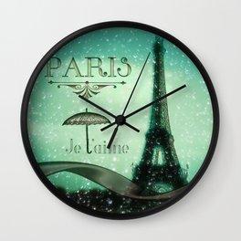 Paris... Je t'aime Wall Clock