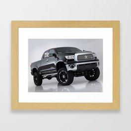 Big Black Framed Art Print