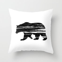 Bear Silouetthe Throw Pillow