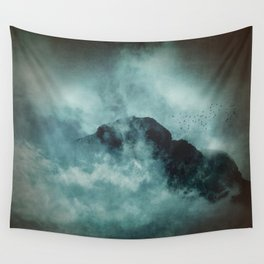 On the top of the world - Mountains Dust Wall Tapestry