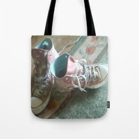 converse Tote Bags featuring Converse by Beatrice