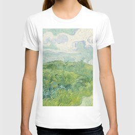 Vincent van Gogh Green Wheat Fields, Auvers 1890 Painting T-shirt