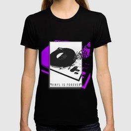 Vinyl is forever print T-shirt