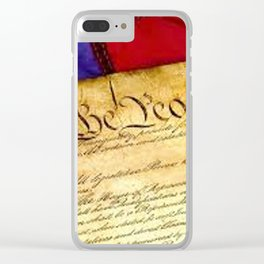 US Constitution Clear iPhone Case