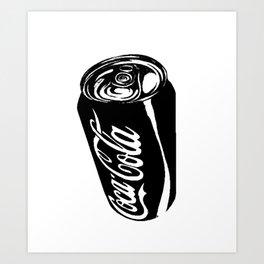 Ink Sketch - Coca-Cola Can Art Print