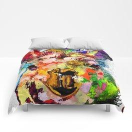 Llama Grunge Comforters