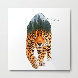 Tiger Nature Metal Print