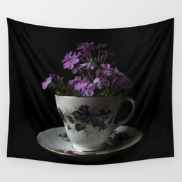 Botanical Tea Cup Wall Tapestry