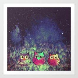 owl 9 Art Print