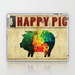 Happy pig Laptop & iPad Skin