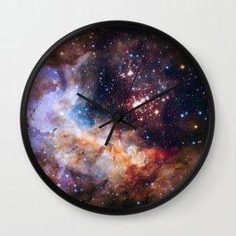 NASA Galaxy Photography Duvet Cover Wall Clock