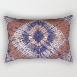 Earth Tone With Indigo Shibori Tie Dye Rectangular Pillow