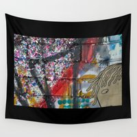sparkles Wall Tapestries featuring bricks & sparkles by AntWoman