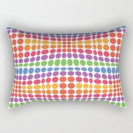 Dottywave - Rainbow wave dots pattern Rectangular Pillow