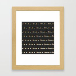 pumpkins in a row on charcoal Framed Art Print