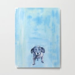 The Dachshund Strut Metal Print