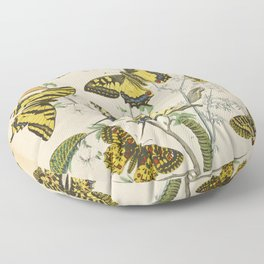 BUTTERFLIES LEPIDOPTERA Scarce Eastern Tiger Swallowtail Floor Pillow