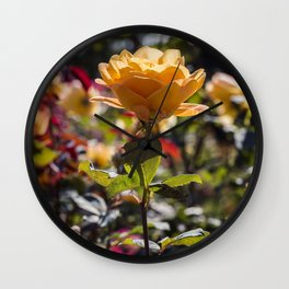 Rose / In The Garden / 1 Wall Clock