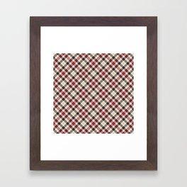 Holiday Plaid 23 Framed Art Print