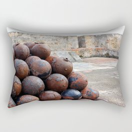Cannonballs at San Felipe del Morro Rectangular Pillow