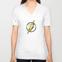 the flash V-neck T-shirts featuring FLASH by neutrone