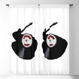 Memphis Soul Music Silhouette Record Blackout Curtain