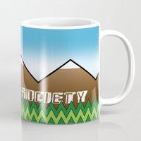 hiking Mugs featuring Hiking Society by klausbalzano