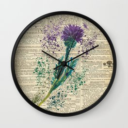 Vintage Jaggy Thistle  Wall Clock