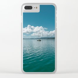 Hawaiian Boat Clear iPhone Case