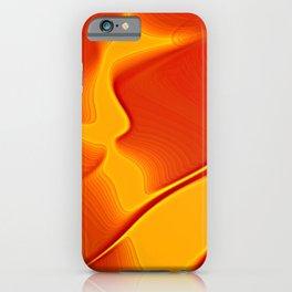 echos in orange and yellow iPhone Case