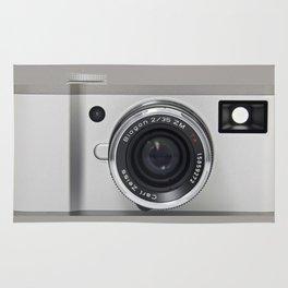 silver camera Rug