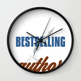 Author Future Best Selling Author Writer Wall Clock