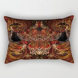 Red Gold Dragon Bull Butt Fx  Rectangular Pillow