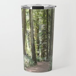 SUNNY REDWOOD TRAIL IN THE STOUT GROVE Travel Mug