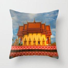 Pai Laem Temple Throw Pillow