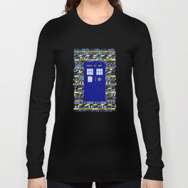 Tardis Yellow Line Long Sleeve T-shirt