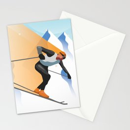 SKIING Stationery Cards
