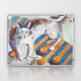 cat and mandarines Laptop & iPad Skin